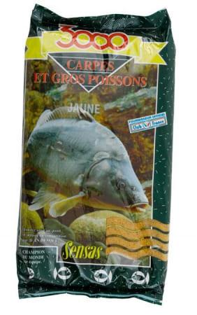 Sensas Krmení 3000 Carpes Jaune (kapr žlutý) 1kg