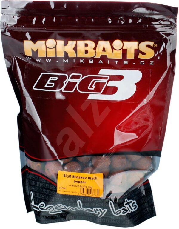Mikbaits Legends Boilie BigB Broskev Black pepper 1kg