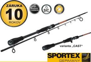 Přívlačový prut Sportex - Black Pearl Shad 270cm 170g - 2 díl