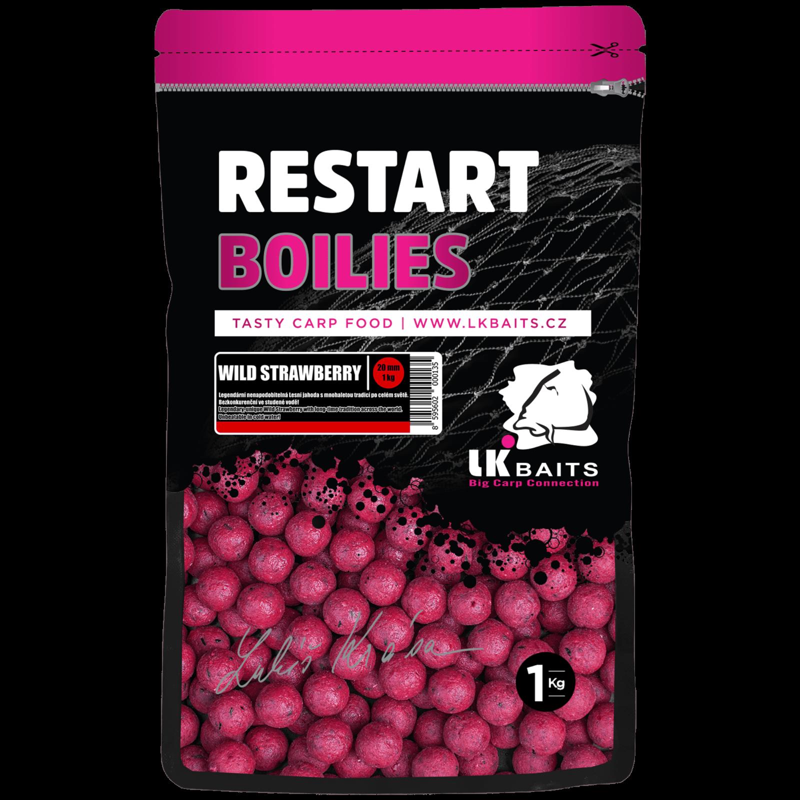 LK BAITS RESTART BOILIES WILD STRAWBERRY 1kg