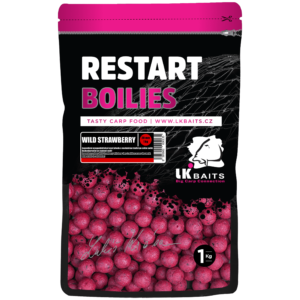 LK BAITS RESTART BOILIES WILD STRAWBERRY 1kg