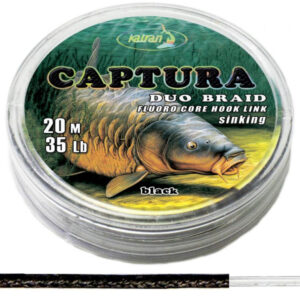 KATRAN ZTUŽENÁ NÁVAZCOVÁ ŠŇŮRKA DUO BRAIDED HOOK LINKS CAPTURA 30LB 20M
