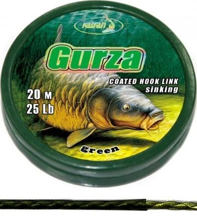 KATRAN ZTUŽENÁ NÁVAZCOVÁ ŠŇŮRKA COATED BRAIDED HOOK LINKS GURZA 20M