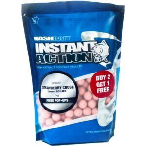 Nash - Boilie Instant Action Strawberry Crush 20mm 1kg