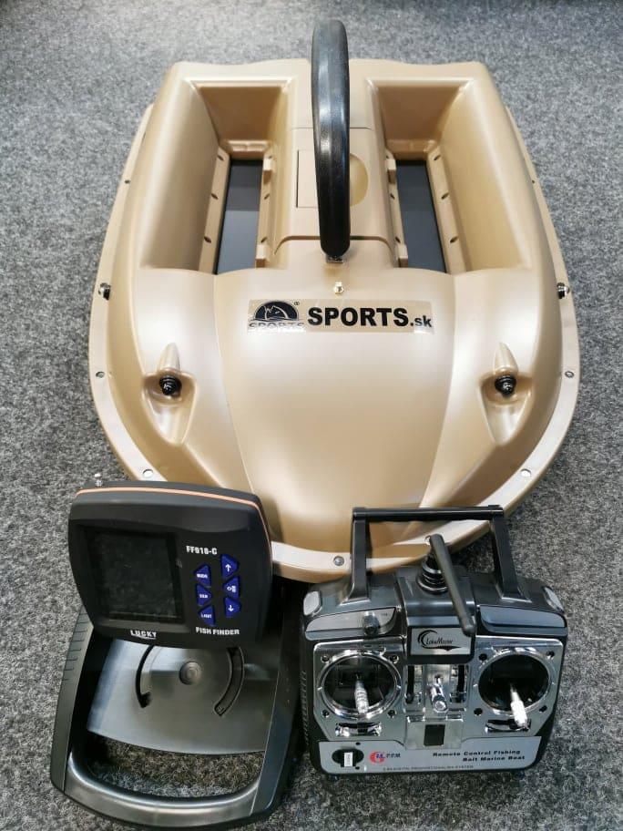 Zavážecí loďka Sports M2 s bezdrátovým sonarem Lucky FF918C