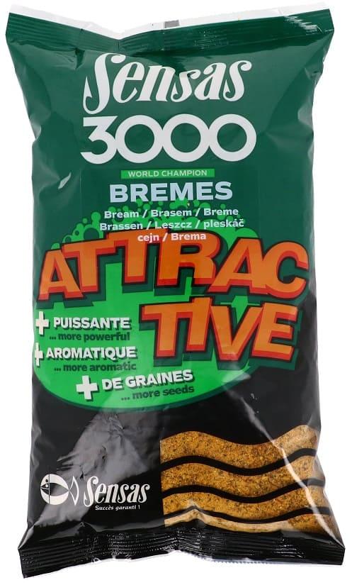 Sensas Krmení 3000 Attractive Carp (kapr) 1Kg